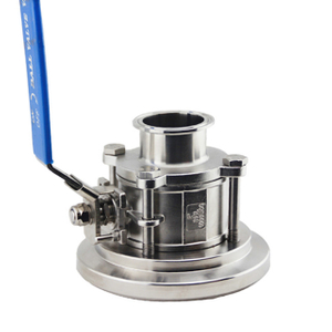 Hygienic Stainless Steel Tank Bottom Ball Valve Bolted Type