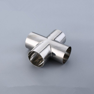 Sanitary DIN Butt Weld Cross-Stainless Steel 304/316L