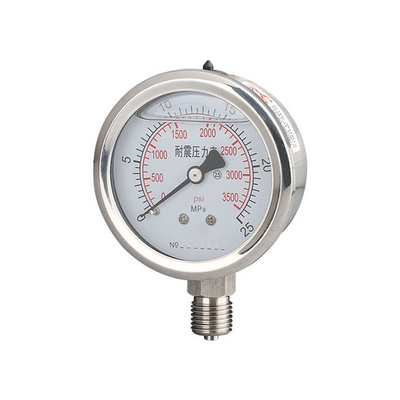 Sanitary Radial Pressure Gauge MNPT Bottom Mount - SS304