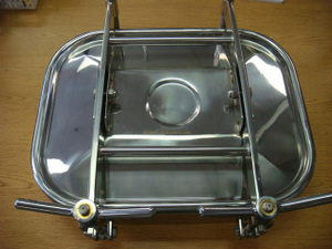 Sanitary Stainless Steel Large Rectangular Tank Manhole Cover SS304/SS316