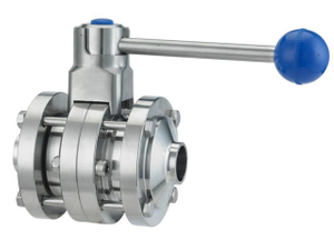 Sanitary Welding Butterfly Valve with Union Stainless Steel AISI304/316L