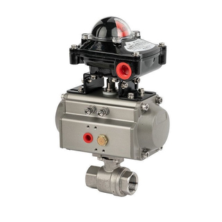 Air Driven Stainless Steel FNPT Ball Valve Full Bore Style