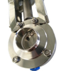 Sanitary Stainless Steel Pneumatic Actuated Butterfly Valve Welded End