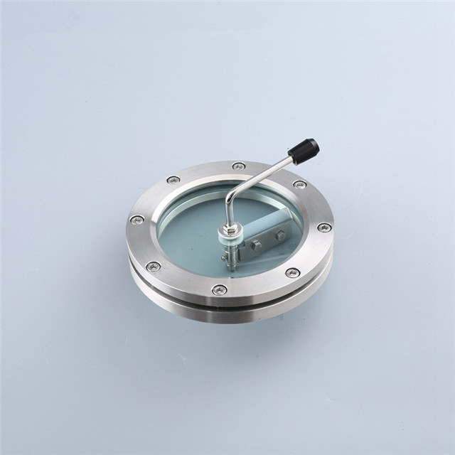 Sanitary Stainless Steel Flange Sight Glass with Silicon Scraping Device