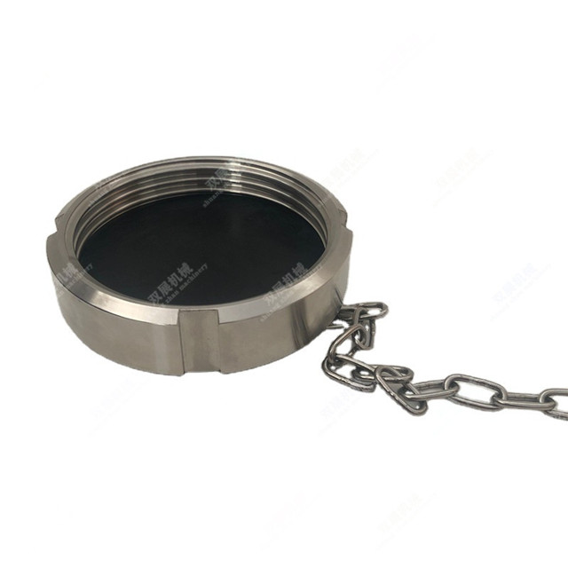 Stainless DIN11851 Sanitary Union Round Blank Nut with Seal Disc Blindmutter