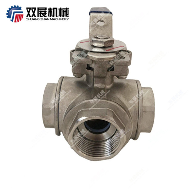 Four Way Threaded Ball Valve Multi-ports Stainless Steel 304 316L