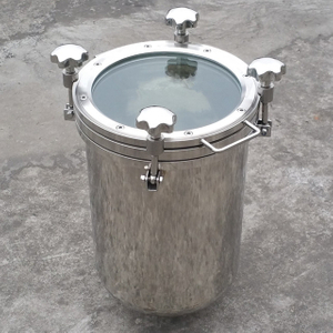 Sanitary Stainless Steel Top Open Tank with Full Sight Glass