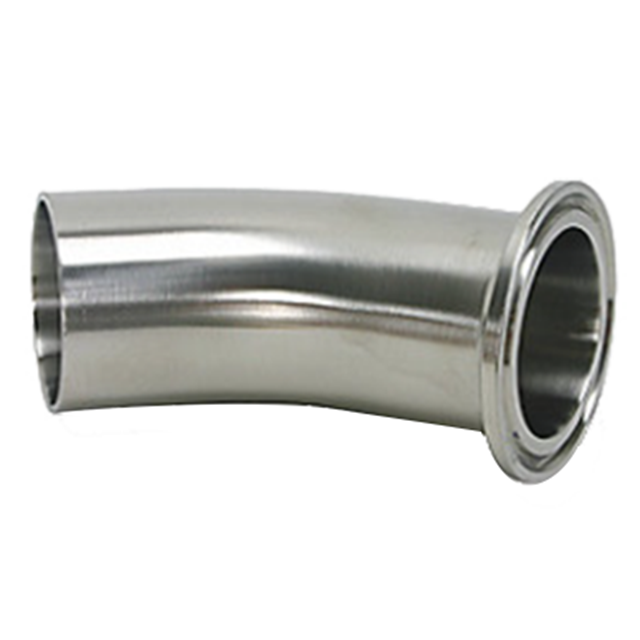 """45 Degree Sanitary Stainless Steel Long Bend Weld Fitting 2/"""" 316L"""