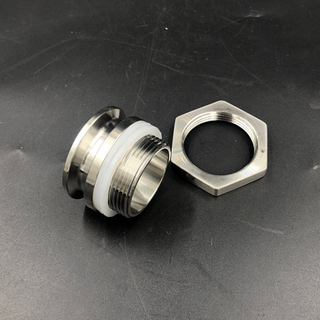 "Stainless Steel 1.5"" Tri Clamp Weldless Bulkhead"