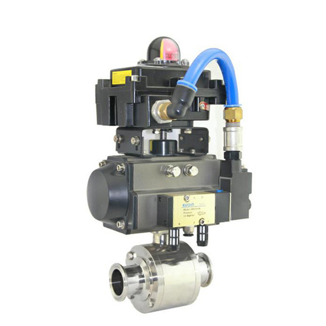 Different types of sanitary pneumatic actuator