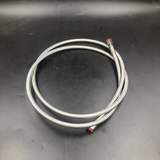 Stainless Steel High-Pressure PTFE Braided Hose with Threaded Fittings