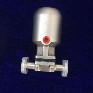 Stainless Steel AISI316 Metal Pneumaticlly Actuated Hygienic Diaphragm Valve