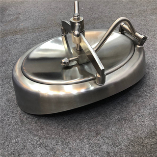Stainless Steel Tank Manway Cover Eliptical Shadowless