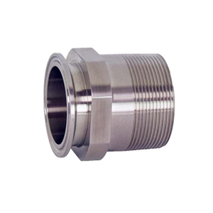 Sanitary NPT Adapter Tri Clamp 1.5 in. x MNPT 1.5 in. T304