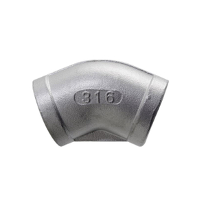 Stainless Steel 45 Degree Elbow 150LB Threaed Fitting