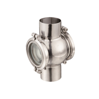Sanitary Stainless Steel Welded On In-Line Sight Flow Indicator