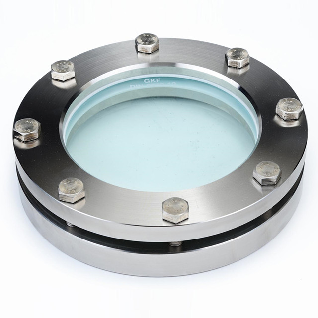 Sanitary Stainless Steel 4in. /DN100 Round Flanged Sight Glass PN16