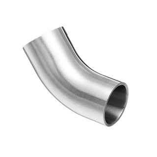 Sanitary Stainless Steel Long Welding 45 Degree Elbows w/ Tangent