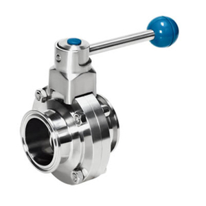 Sanitary SS Manaul Clamped Butterfly Valve Square Pull Handle