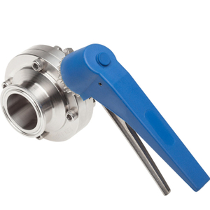 Sanitary Stainless Steel Manual Butterfly Valve Squeeze Trigger Handle