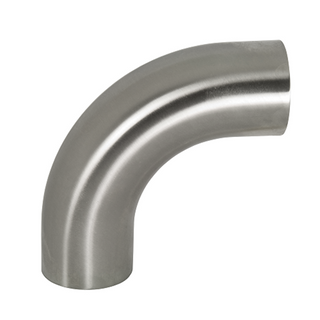 Sanitary Stainless Steel Welding 90 Degree Elbows w/ Tangent