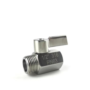 Stainless Steel (304) Female to Male Mini Ball Valve Stainless Lever