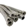 Stainless Steel Braid Cover Smooth PTFE Tube w/ Threaded Pipe Fitting