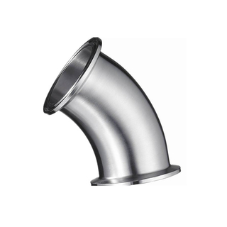 Sanitary Stainless Steel Tri Clamp 45 Degree Elbow
