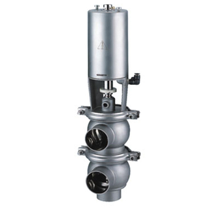 Hygienic Stainless Steel Auto Control Divert Valve L/L