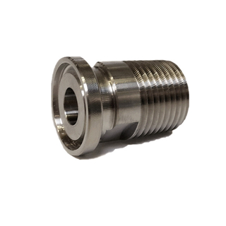 Sanitary Stainless Steel 1/2in and 3/4 in Tri Clover Threaded Adapter