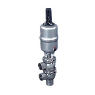Sanitary Stainless Steel Pneumatic Welding F type Divert Seat Shut-Off Valve