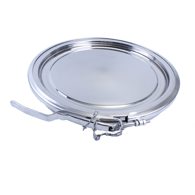 Sanitary Stainless Steel Round Clamp Manhole Cover Silicon Sealing